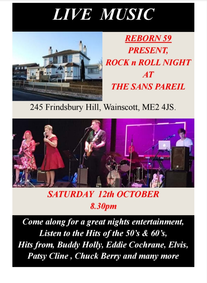 50's night poster at the sans pareil strood